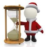 3D Santa waiting for Christmas — Stock Photo