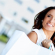 Happy shopping woman — Stock Photo #8851502