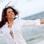 Woman enjoying the beach — Stock Photo #8851529