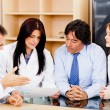 Doctors in a board meeting — Stock Photo