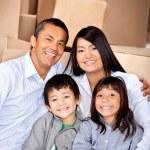 移動の家族の家 — ストック写真