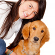 Girl with a puppy — Stock Photo #8851789