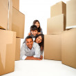 Stockfoto: Family moving house