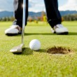 Golf player hitting the ball — Stock Photo #8851875