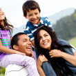Family portrait outdoors — Stock Photo #8851882