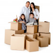 Family packing for moving — Stock Photo #8851899