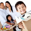 Family moving house — Stock Photo