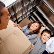 Family moving house — Stockfoto