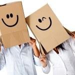 Cardbord characters — Stock Photo #8851923