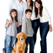 Family with a dog — Stock Photo #8851927