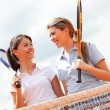 Female tennis players — Stock Photo #8851992