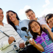 Family playing golf — Stock Photo #8851999