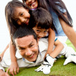 Family at the golf course — Stock Photo