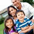 Happy family outdoors — Stock Photo #8852027