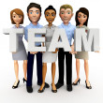 3D business team — Stock Photo