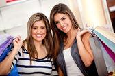 Compradores femeninos — Foto de Stock