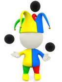 3D jester or clown — Stock Photo
