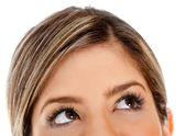 Weibliche augen blickte — Stockfoto