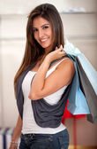 Female shopping — Stock Photo