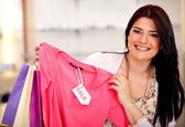 Shopping on sale — Stock Photo