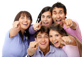 Surprised group of friends — Stock Photo