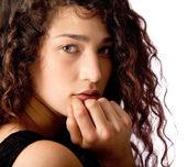 Beautiful curly hair — Stockfoto