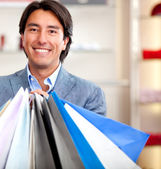 Male shopper — Stock Photo