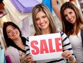 Winkelen op verkoop — Stockfoto