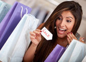 Exciting shopping sale — Stock Photo