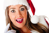 Mrs. Claus looking surprised — Stock Photo