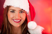 Mrs. Claus at Christmas — Stock Photo