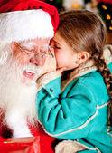 Secret to Santa — Stock Photo