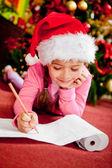 Christmas wish list — Stock Photo