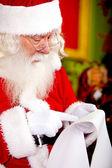 Christmas wish list for Santa — Stock Photo