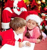 Christmas letter for Santa — Stock Photo