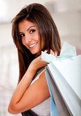 Female shopper — Stok fotoğraf