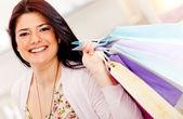 Girl shopping — Stock Photo
