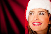 Pensive Mrs. Claus — Stock Photo