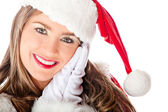 Cute female Santa — Foto Stock