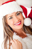 Gorgeous female Santa — Foto Stock