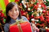 クリスマス プレゼント女の子 — ストック写真