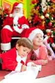 Christmas letter for Santa — Foto de Stock
