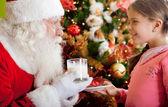 Regalo de navidad para santa — Foto de Stock