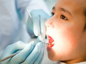 Boy at the dentist — Stock Photo