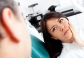 Woman at the dentist — Foto de Stock