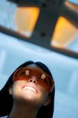 Mujer en el dentista — Foto de Stock