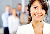 Operador de soporte al cliente — Foto de Stock
