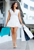 Gorgeous shopping woman — Photo
