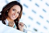 Latin shopping woman — Stock Photo