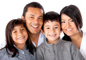 Latinamerican family — Stock Photo